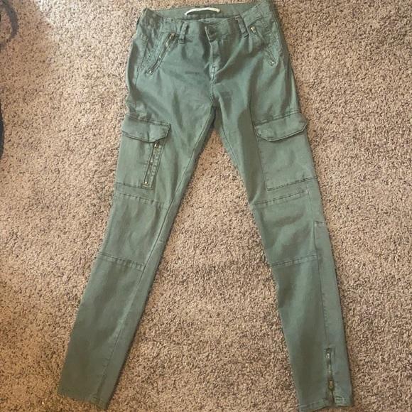 Zara army green pants